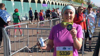 Running for life-savers: Celia Clark, GTR Customer Experience manager, is running the London marathon for the Samaritans