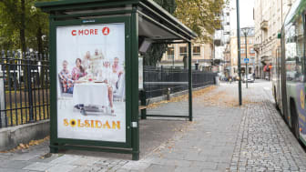 Väderskydd med reklamyta i Malmö. Foto: Clear Channel Sverige