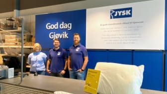 Fra venstre: Deputy Store Manager Trine Viken, Store Manager Marius Engemoen og Store Manager Trainee Øyvind Kristiansen