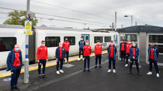 Zonal masking: Stevenage FC Academy players are face-covering role models with free rail travel