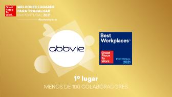 AbbVie eleita a melhor empresa para trabalhar em Portugal