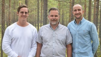 Nordic Quick Systems grundare, från vänster Niclas Granström, Nicklas Jadinge och Sammy Pergament