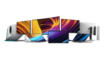 Högpresterande skärmar och nya bärbara datorer i Dell Technologies senaste produktlansering - med det moderna arbetslivet i fokus.