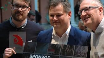 Matias Hana, Bjørn Erik Stabell og Dag Sørli mottok i dag Sponsor Insights Innsiktspris 2017 på vegne av Sjømatrådet