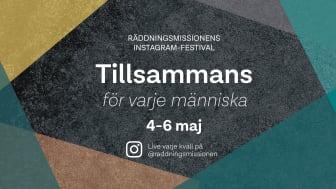 Tillsammans för varje människa - Räddningsmissionens Instagramfestival