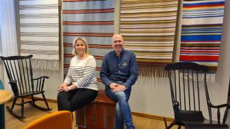 Pilvi Ryökkynen, utbildningschef för byggutbildningarna och Leif Pääjärvi, utbildningsstrateg känner sig taggade till tusen.