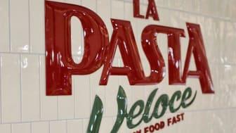 La Pasta Veloce logo skylt