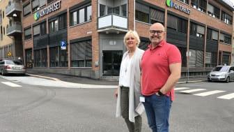 Etablererveiledningens Lisbeth Torkildsen er på plass på Kontorhuset. I august skal hun være med på Hakon Lærums åpning av Gründerhuset.