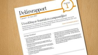 Akademiska Hus delårsrapport 1 januari – 31 mars 2017