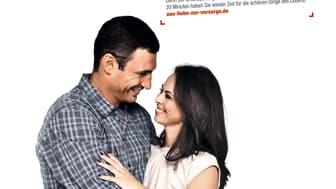 """Drei prominente Paare werben """"aus Liebe zur Vorsorge!"""" für den Darmkrebsmonat März 2012"""