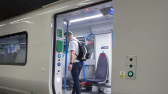 New Moorgate 717 train - passenger door
