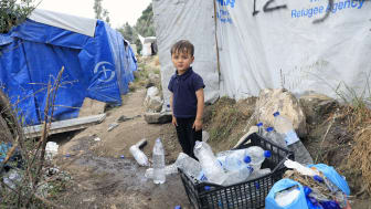 Flyktinglägret Moria, Lesbos 2019. Fotograf Giorgos Moustafis/SOS Barnbyar Grekland