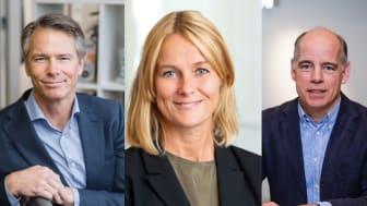 Nya ledamöter i Swedish Edtech Industrys styrelse: Christer Carlberg, vd Sanoma Utbildning, Anna Settman, vd Liber och Per Almgren, vd Natur & Kultur.