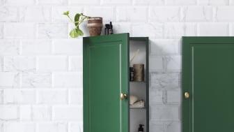 Stil väggskåp grön NCS