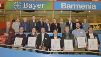 Die Preisträger des 41. Barmenia-Fairplay-Pokals im November 2017 (Barmenia;afi)