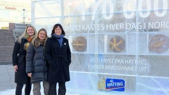 Bygger isvegg mot brødsvinn utenfor Oslo S