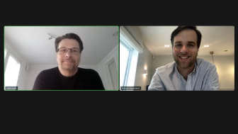 Virtual signing ceremony with Kalle Soini and Havard Haukeland