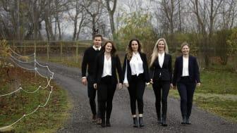 Fr.v. Mose Karlsson, Nina Ollhage, Leila M. Nilsson, Sandra Irming, Francine Wind