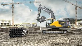 30-tonsgrävaren Volvo EC300E används som provbänk