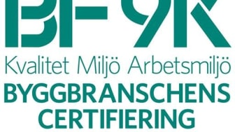 SVEAB Anläggning och SVEAB Järnväg BF9K-certifierade