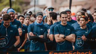 Die Stimmung unter den Läufern war bestens.