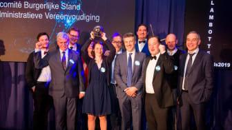 Modernisering burgerlijke stand wint e-gov Award 2019
