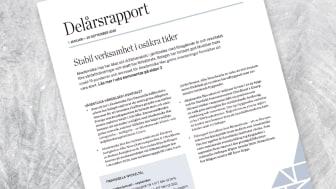 Akademiska Hus delårsrapport 1 januari – 30 september 2020