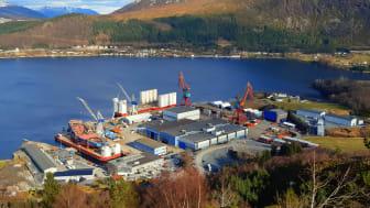 Green Yard Kleven i Ulsteinvik blir det fyrste verftet i Noreg som kan handtere heile livsløpet av skip. Frå nybygg, reparasjon, ombygging og til slutt resirkulering av skip. Foto_ Green Yard Kleven