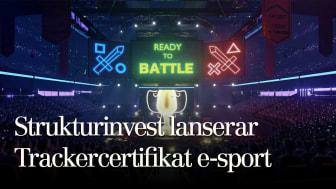 """Strukturinvest lanserar """"Trackercertifikat E-sport"""""""
