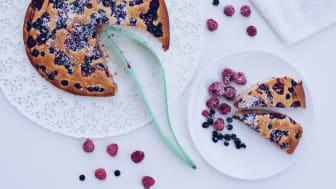 Tack vare tårtspaden Magisso är det nu enkelt att skära upp och servera på tallriken.