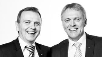 Kim Henriksen til venstre og Roger Limbodal til høyre