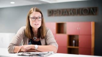 Marie Hillblom är ny chefredaktör och ansvarig utgivare på 8 Sidor. Foto: Stina Järperud.