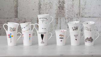 Herzerwärmende Motive, pfiffige Sprüche: die Hutschenreuther My Mug Collection bietet zwölf unterschiedliche Bone China Becher, mit denen es sich gut in den Tag starten lässt.