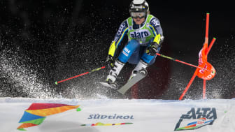Mattias Rönngren är tillbaka efter skada, kan han upprepa sin sjätteplats från fjolåret, eller till och med bättre när det kommande fredag är parallellstorslalom i Lech. Foto: Bildbyrån