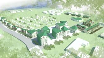 Det vinnande tävlingsförslaget för Alby Kolonipark