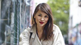 Rachel Khoo på cykel