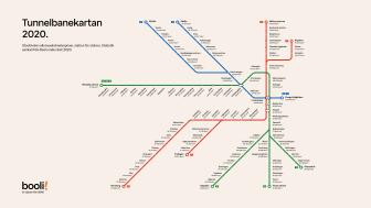 Tunnelbanekartan 2020