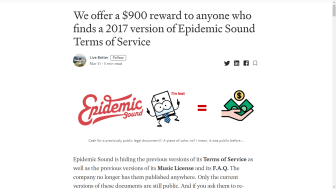Live Better's 'bounty' for the terms of service