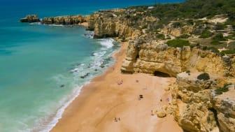 Praia da Coelha I Albufeira en av Algarvekustens vackraste stränder
