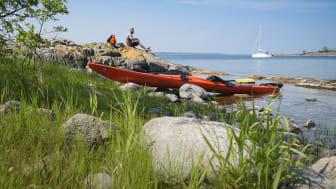 Kajakpaddling i Sankt Anna skärgård Fotograf @Crelle Ekstrand