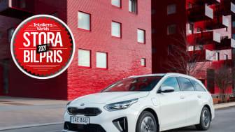 Kia Ceed SW Plug-In Hybrid vinner Teknikens Världs Stora Bilpris 2021