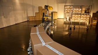 """DS Smiths emballager indgår i kunstnergruppen Artnotes nye udstilling """"404 Not found"""" på Den Frie Udstillingsbygning i København."""