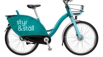 De nya cyklarna är 7-växlade, lättare, har höj- och sänkbara sadlar och lånas via en app. Bild: Göteborgs Stad