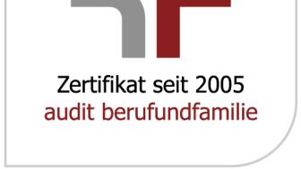 Bereits seit 2005 wird die Barmenia mit dem Zertifikat zum audit berufundfamilie ausgezeichnet