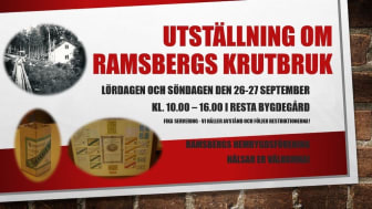 Utställning i Ramsberg om Krutbruket
