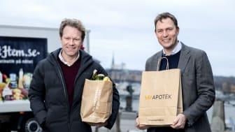 Johan Lagercrantz, vd MatHem & Anders Torell, vd för Kronans Apotek X
