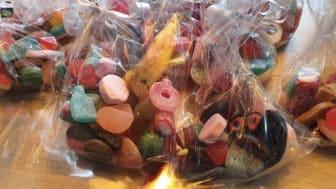 Bild på godispåsar