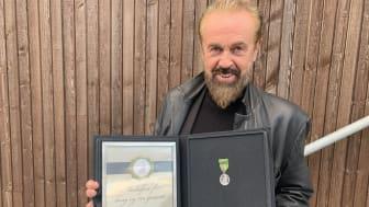 Terje Sæther med Norges Vels Medalje