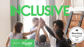 Schneider Electrics arbete med jämställdhet hyllas för fjärde året i rad av Bloomberg