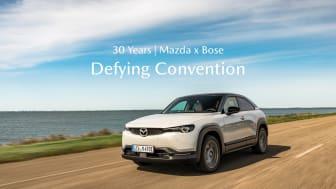 Att utmana konventioner tillsammans: 30 års av samarbete mellan Mazda och Bose